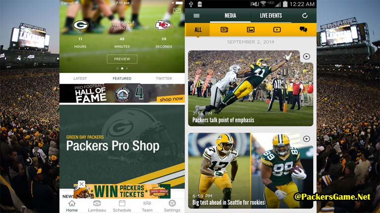 Green Bay Packers Apps