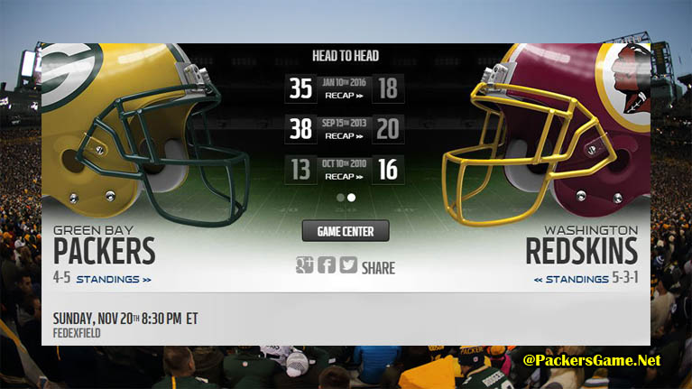 Green Bay Packers Game Live Scores