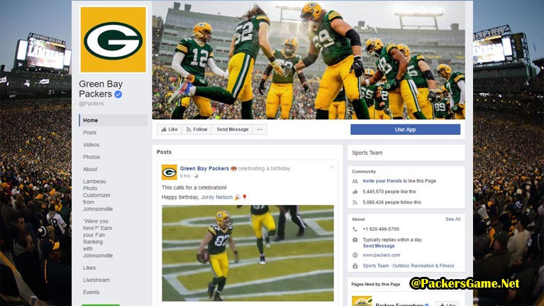 Green Bay Packers Facebook Fans