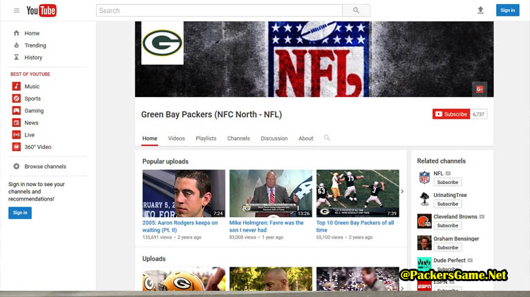 Green Bay Packers Game YouTube Video Fans